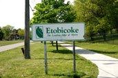 Photo of Etobicoke city sign