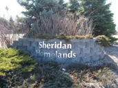 Photo of Sheridan Homelands neighbourhood sign